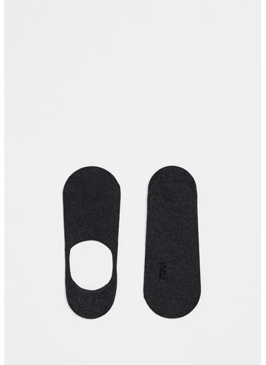 Mavi Babet Çorabı Gri